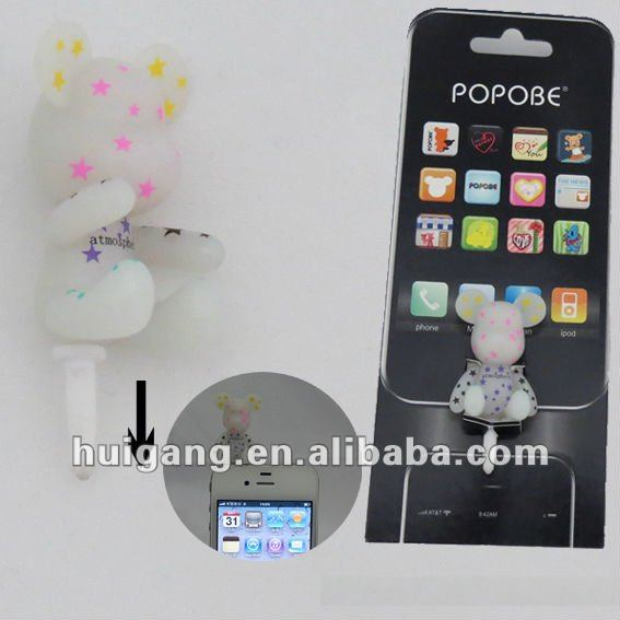 Fashion Earphone jack dust plug for iphone