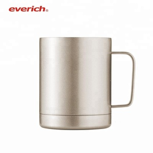 10oz Free Samples Double Walled Stainless Steel Travel Coffee Mug Tumbler Cups With Lid Handle and Straw