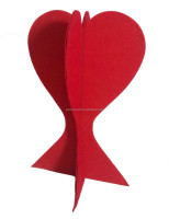 Popular Felt Poker Heart Ornaments, indoor decoration