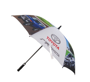 China new design custom printed golf umbrella