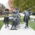 Garden Metal Crafts Famous Band Team Character Bronze Family Musician Sculpture For Music Park