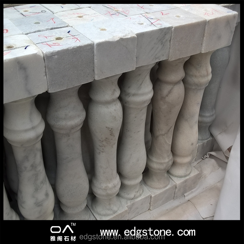 Custom design cheap prices marble stairs pillar