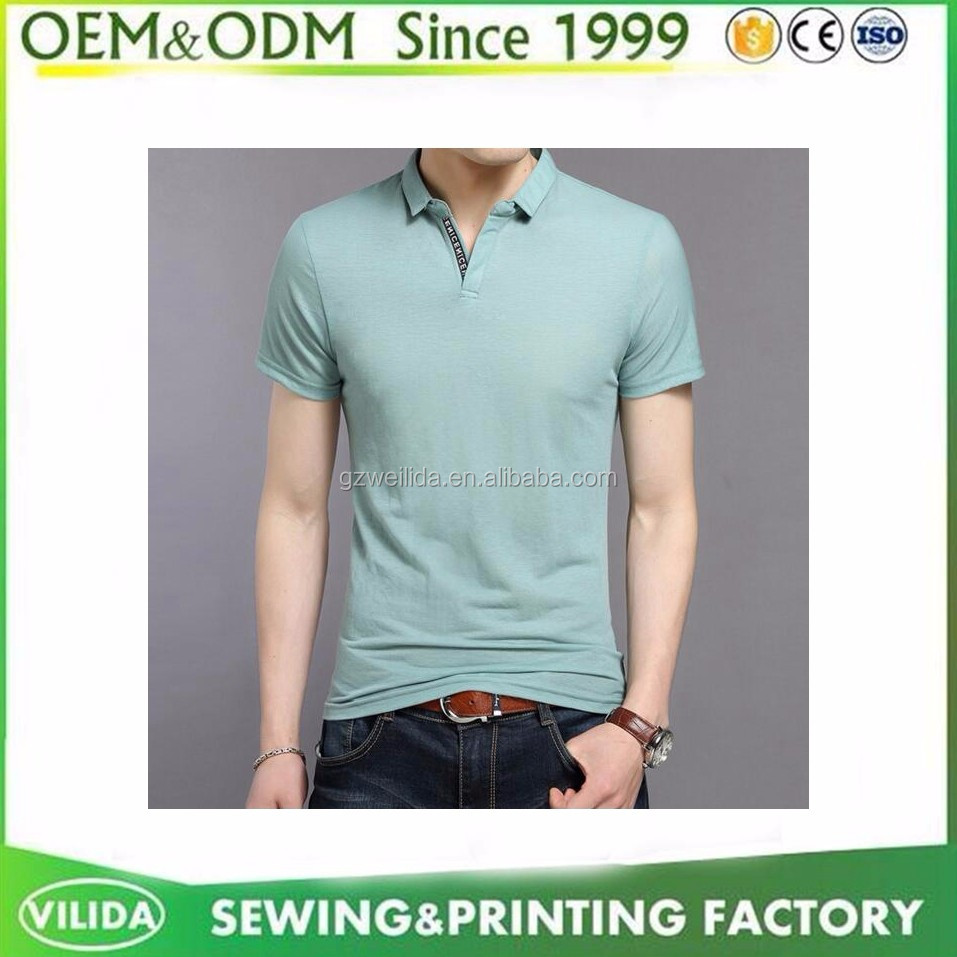 Customized Classic Collar Mens 100 Pique Cotton 220gsm Polo Shirt