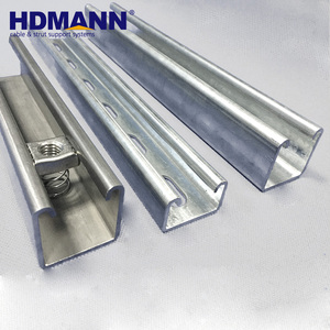 Customized Powerful Metal UniStrut System Galvanized Steel C Channel