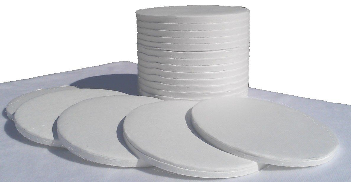 Ohaus Style 90mm Binderless Glass Fiber Sample Pads for Moisture Analyzers - 1 Case of 2400 (12 Boxes of 200) Sample Pads by Nevada WeighingTM Brand