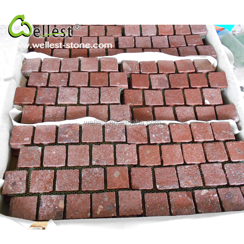 Top Natural Sudes Split Red Porphyry Outdoor Paving Stone