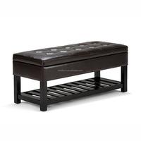 Home Cosmopolitan Faux Leather Storage Ottoman Bench