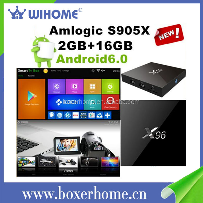 Slim outline 1GB + 8GB / 2GB + 16GB s905x Quad Core UHD Pre-installled Kodi 16.0 <strong>Android</strong> 6.0 smart <strong>tv</strong> <strong>box</strong>