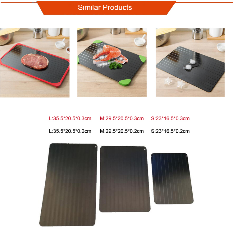 New Hot Products Aluminum Magical Natural Thawing Frozen Fish Or Meat Thawing Tray Fast Defrosting Plate