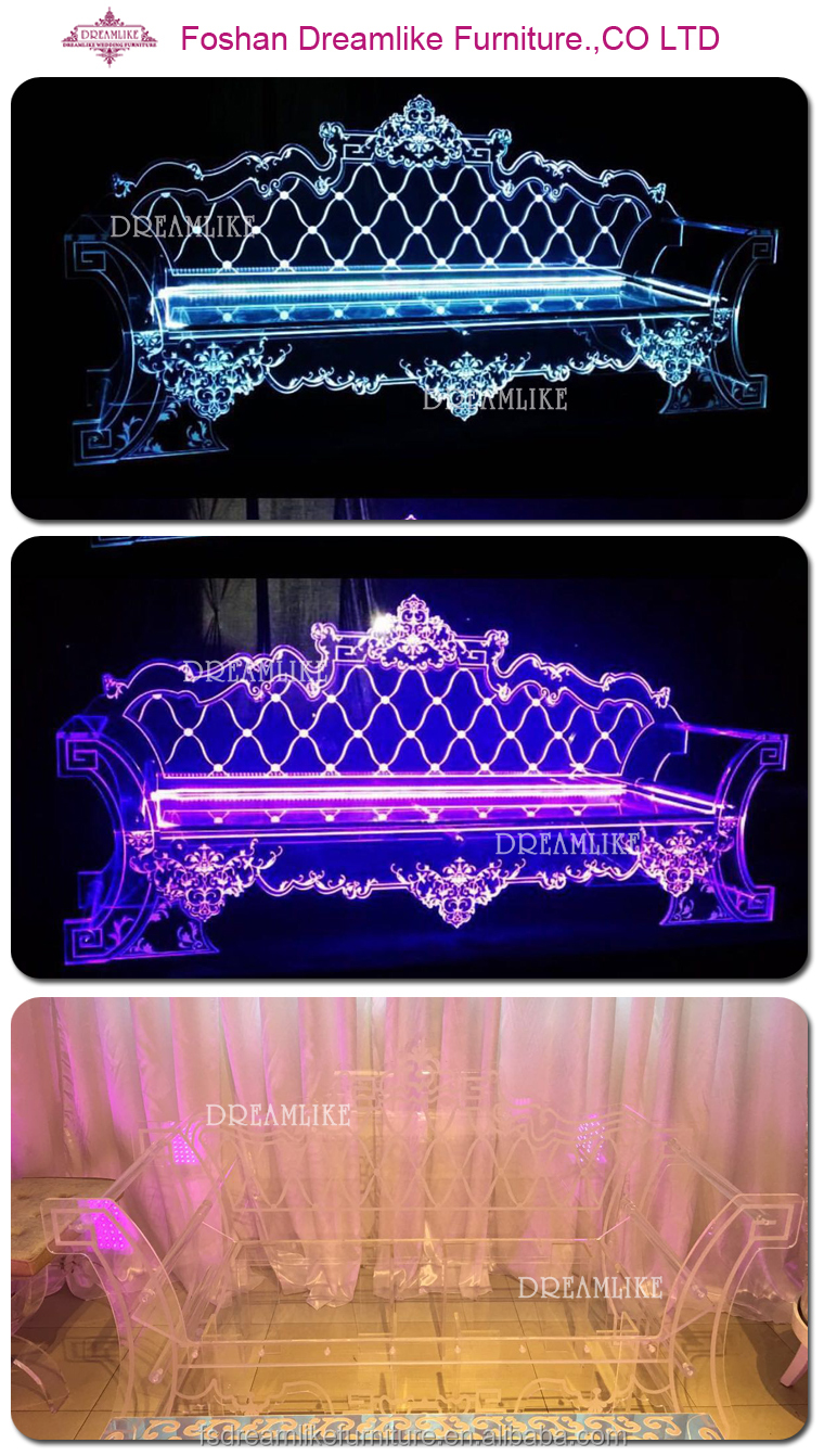 fantasy long back transparent acrylic throne sofa for dining room furniture