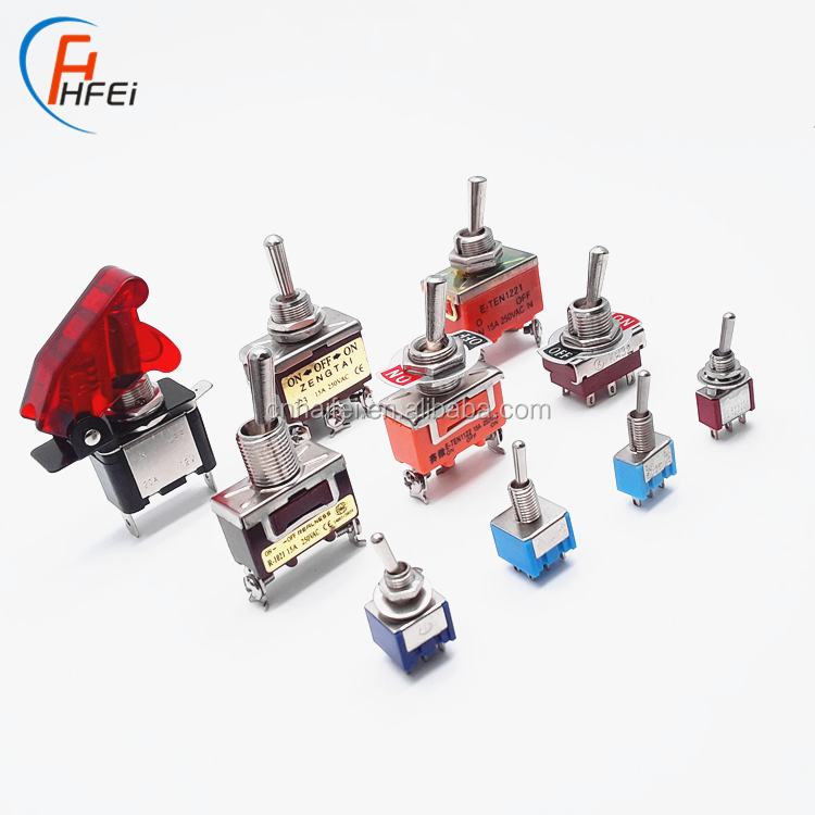 Haifei top quality toggle switch locked waterproof electric 16A rocker on-off-on 3-way switch toggle