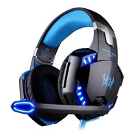 Globalcrown G2000 Gaming Headset PC With Noise Cancelling Mic, LED Lights, Volume Control For Laptop