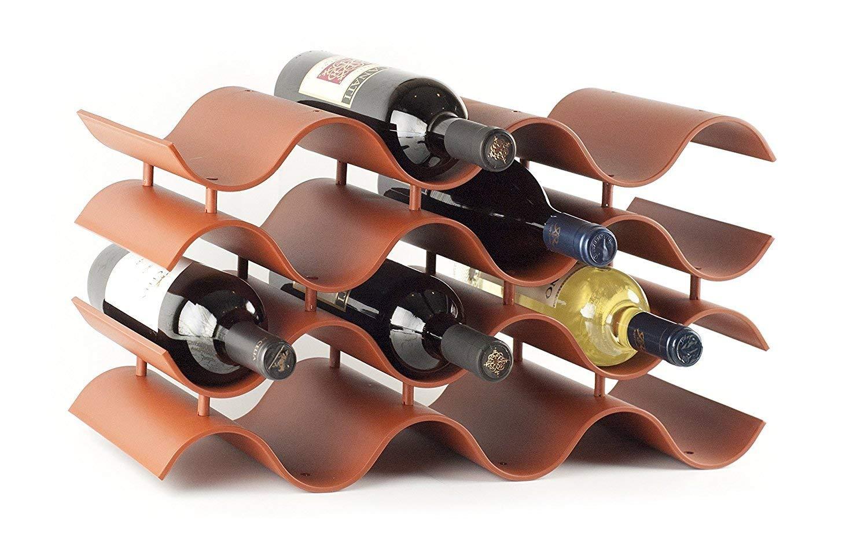 WAJ wine rack ,red wine,Wooden wine rack - 6 bottles of wine storage space protect kitchen countertops, wine display, save kitchen space