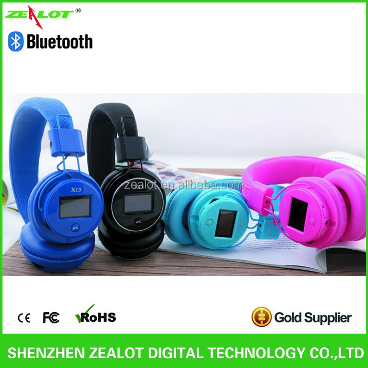 FM Radio Digital Headphone Bluetooth 3.0 +EDR Support TF card MP3 Player With LCD Track information