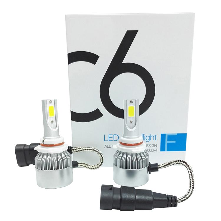Car Lights H4 Led C6 H11 H1 H4 H7 9005 9006 H3 H8 H9 H13 9007 Auto Car Headlight Bulbs 72w 7800lm 6000k Led Automotive