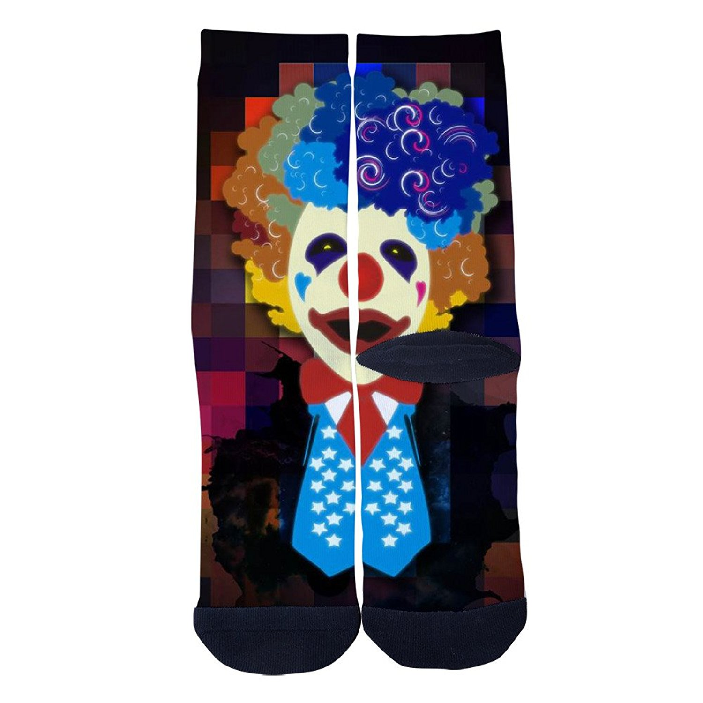 Ysdai custom Spring and winter cartoon skeleton 3 Socks Adult Print Crew Socks Knee High Socks