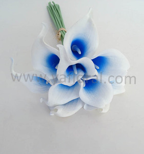 Cheap wholesale quality real touch pu calla lily artificial flowers for wedding