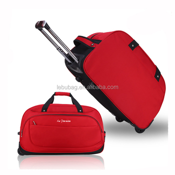 2d3d7e642b Travel Bag OEM Factory Unisex Fashion Travel Bag with Wheels Nylon Trolley  Duffle Bags Hand Luggages