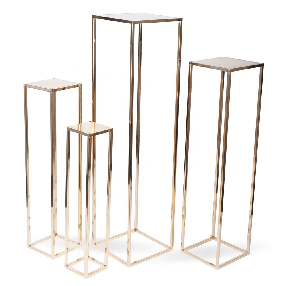 Rose Goud 100 cm Tall Platte Pack Bruiloft Tafeldecoraties Tall Metalen Middelpunt Stands