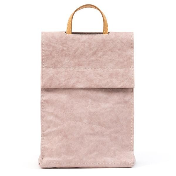OEM factory direct sale metallic travelling carrying bag/washable kraft paper backpack