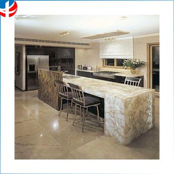 White Quartz Slab Table Countertop Semi Precious Stone
