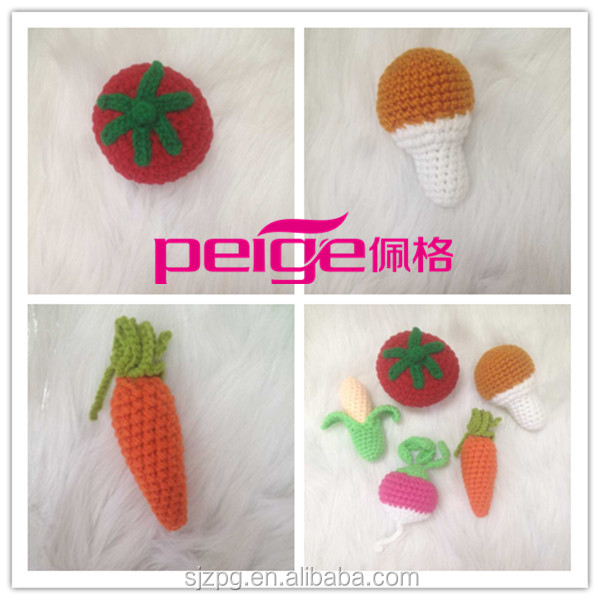 Play food Crochet Baby toy Veggies safe decor crochet baby toy