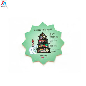 Eco-friendly custom adversting flat fridge magnet