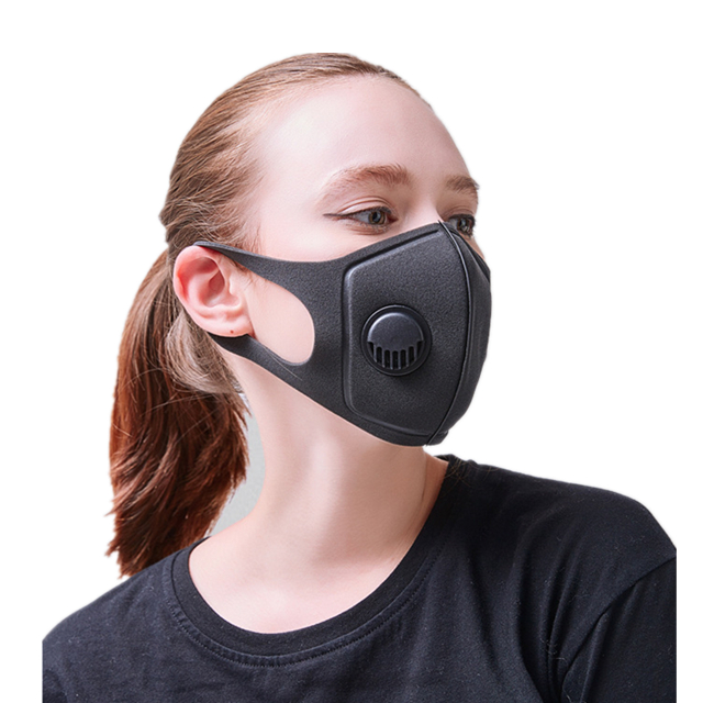 Good quality black safety anti pollution sport protective anti dust sponge fashion pitta face mask