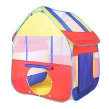 Детская палатка для игр в помещении и на свежем воздухе, портативная детская палатка с шариками, набор игрушек, складной детский игровой дом...(Китай)
