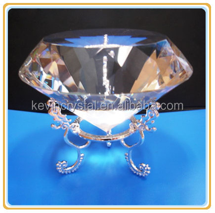 K9 machine cut crystal diamond on stand holder attractive gifts souvenir decorations