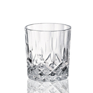 China factory wholesale ribbed unbreakable souvenir diamond crystal wine shot glass