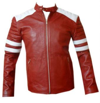 Tyler Brad De Fc Fight Buy Durden Cuero Rojo Pitt Club Chaqueta SA7nqxp