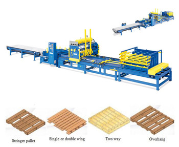 Automatic Stringer Pallet Making Machine For Nailing Wood