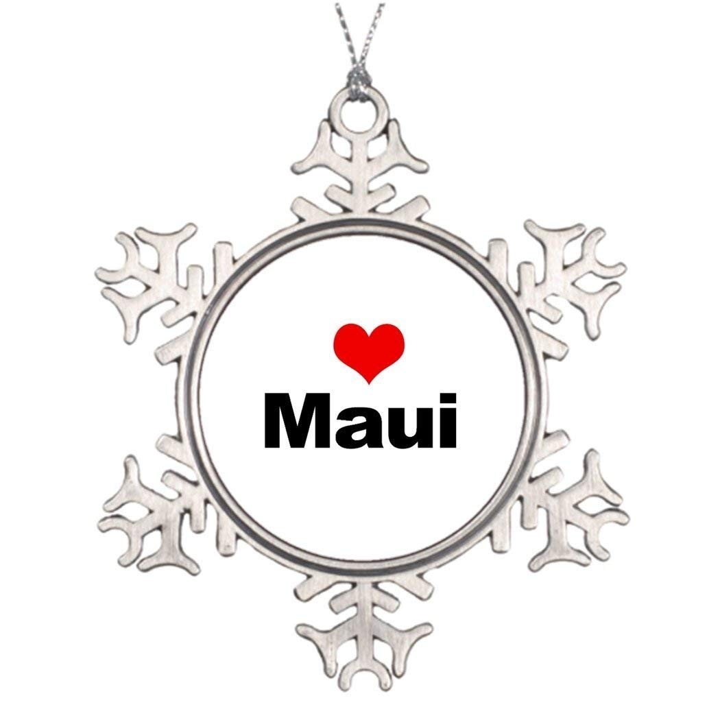 Sedlockyvq Xmas Trees Decorated Love Maui Halloween Tree Snowflake Ornaments