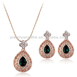 22k gold jewellery dubai, fashion crystal jewelry set 22k gold jewellery dubai