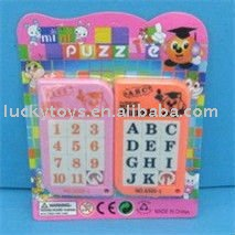 Intellect toy,mini English and number square puzzle