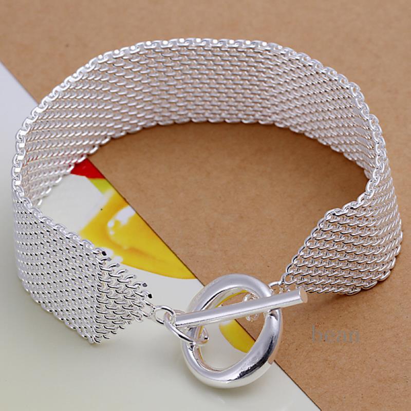 Silver Band Bracelet: Jewelry Bracelets Bangles 925 Sterling Silver Jewelry Loom