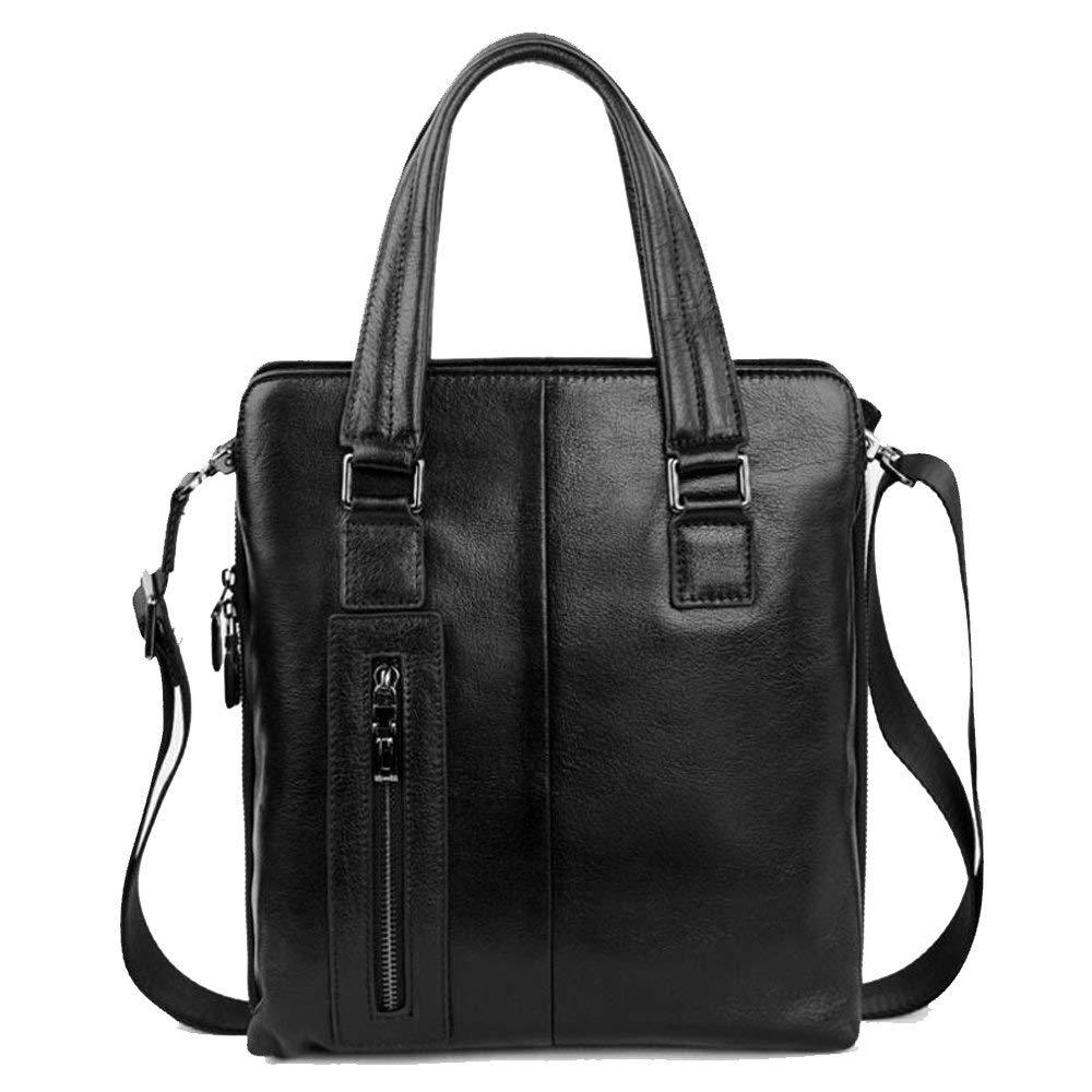 JUNBOSI Leather Handbags Men's Briefcase Large-capacity Vertical Business Leather Bag High-grade Leather Men's Shoulder/Messenger Bag