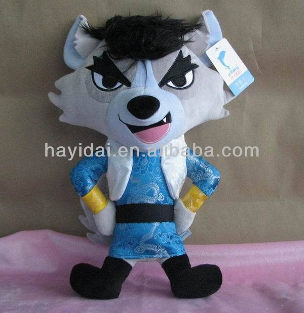 Custom stuffed and plush wolf toy wild animals
