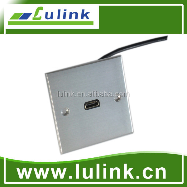 Lulink With HDMI Wall Plate Aluminum Electrical Wall Socket Face Plate