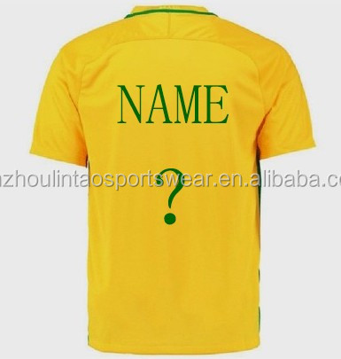 huge discount 21397 27c24 Customs Neymar Jr T.silva Soccer Shirt 2019 Newest Home Yellow Player  Version Brazil Football Jersey - Buy Brazil Football Jersey,Brazil Soccer  ...