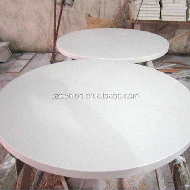 Wholesale Round Marble Slab Table Top , Artificial Stone Restaurant Dining  Table ,coffee Shop Tables