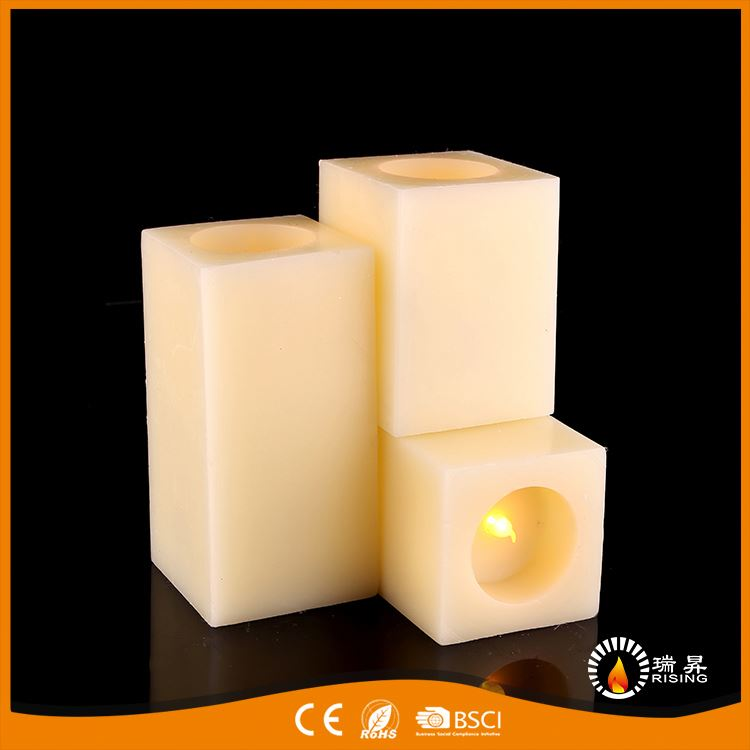 Factory sale fad embedded led wax candle