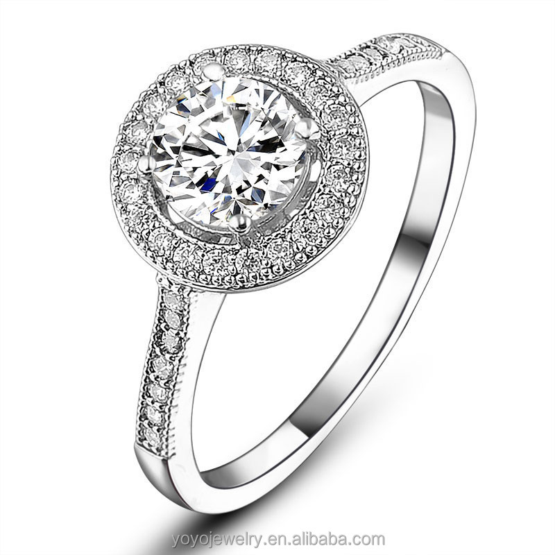 Wholesale fancy white gold single stone ring designs
