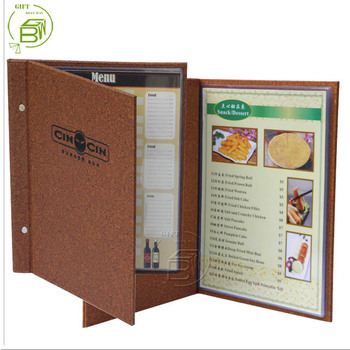 hot sale free sample restaurant restaurant supplies menu cover leather