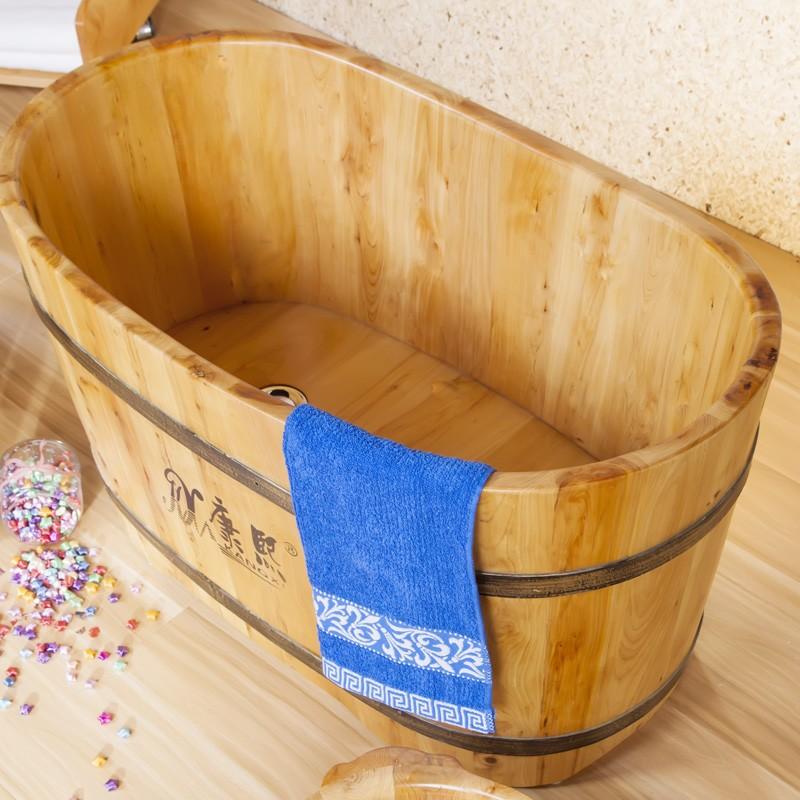 Portable Indoor Kids Wooden Bathtub For Sale Freestanding Baby Bath Tub