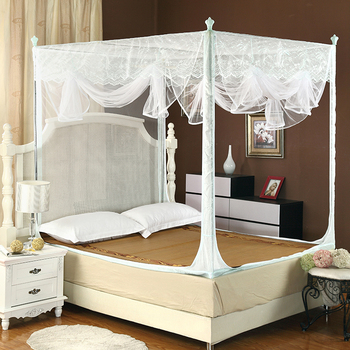 Soft Lacework Four 4 Poster Little Canopy Bed Curtain