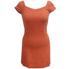 ladies Linen/Viscose solid dresses