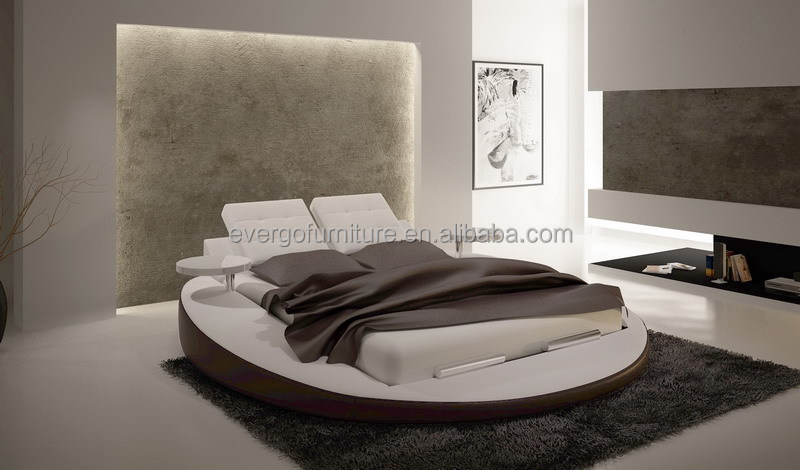 Leather Round Bed Leather Round Bed Suppliers And Manufacturers - Black leather round bed