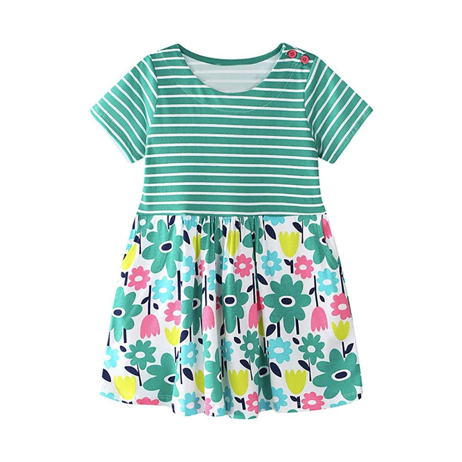 Kehen Kid Toddler Girl Spring Outfit Classic Plaid Swing Dress Casual Tutu Dresses